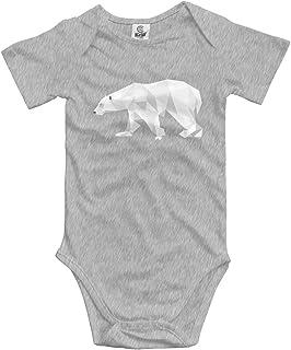 Sunny R Baby Kletterkleidung Set Eisbär Bodys Strampler Kurzarm Light Onesies 0-24 M
