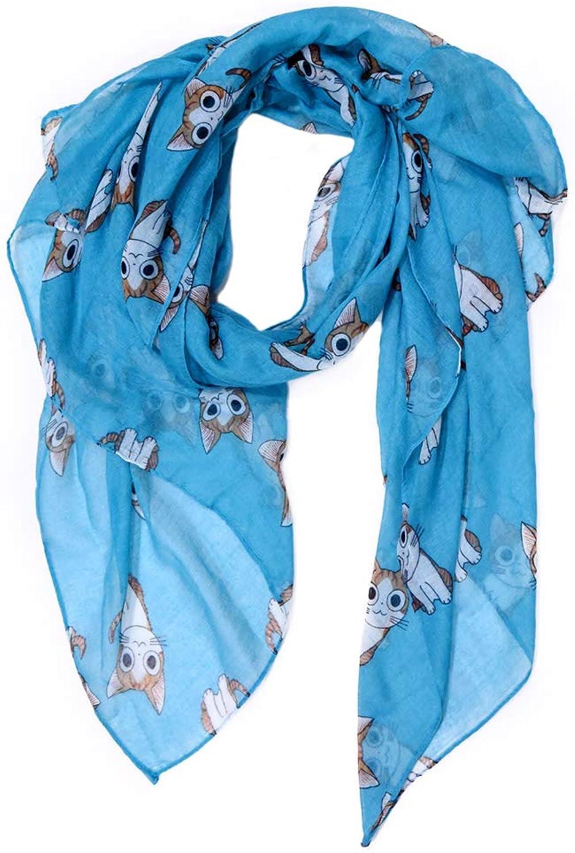 Scarf for Women Lightweight Cute Cat Print Scarfs Fashionable Fall Winter cozy Scarves Shawl Wrap
