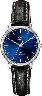 Q&Q Women's Blue Dial Leather Band Watch - QZ01J312Y