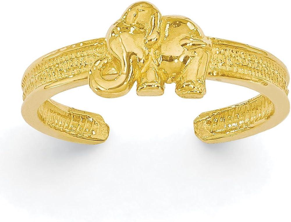 Women's 14K Yellow Gold Elephant Toe Ring