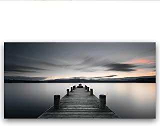 Studio 500 Museum Quality Canvas Print of The Boardwalk to The Sunset, Ready to Hang, XX-Large Canvas, Landscape Collection: B1902 ST, Made in USA in Various Sizes (58x28x1.5)