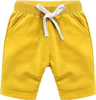 GLORYA Boys Cotton Solid Summer Cute Short