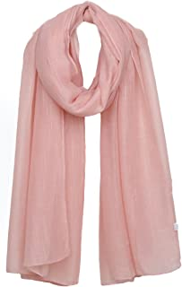 Ayli Women's Solid Color Scarf Long Shawl Lightweight Fashion Wrap Various Colors