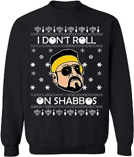 I Don't Roll On Shabbos Lebowski Ugly Christmas Mens T-Shirt Crewneck Pullover Sweatshirt Comic Gifts