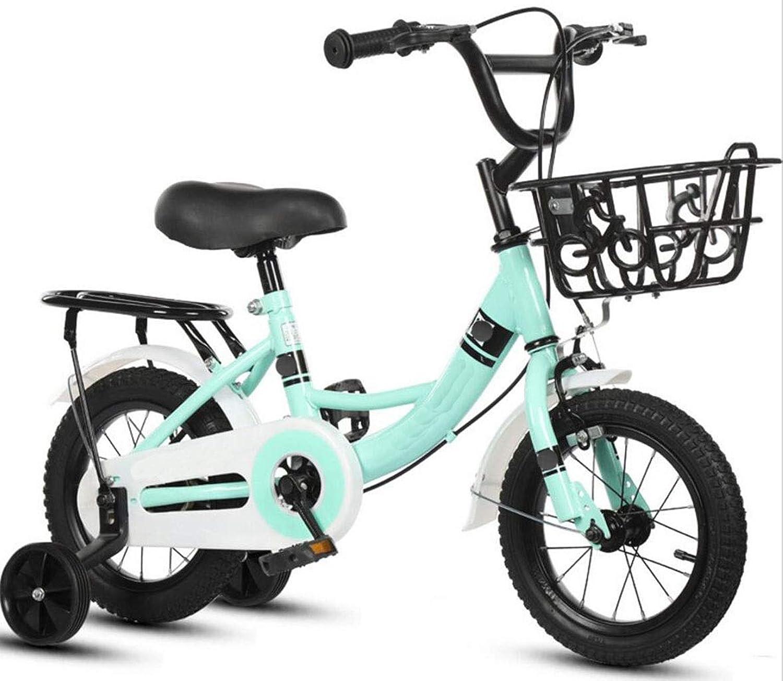 Fahrrad Kinder Klapprad für Jungen und Mdchen 4-8 Jahre alt Kinder Sportfahrrad 16 Zoll (Farbe   Grün 1)