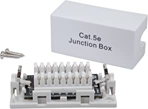 InstallerParts Cat.5E Junction Box - 110 Punch Down Type - Secure Shielded Outdoor Junction Box - UL Listed