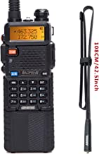 BaoFeng UV-5R 8W High Power Tri-Power 1W/4W/8W Portable Dual Band Two-Way Radio 3800mAh Battery with 42.5inch Abbree Tacti...