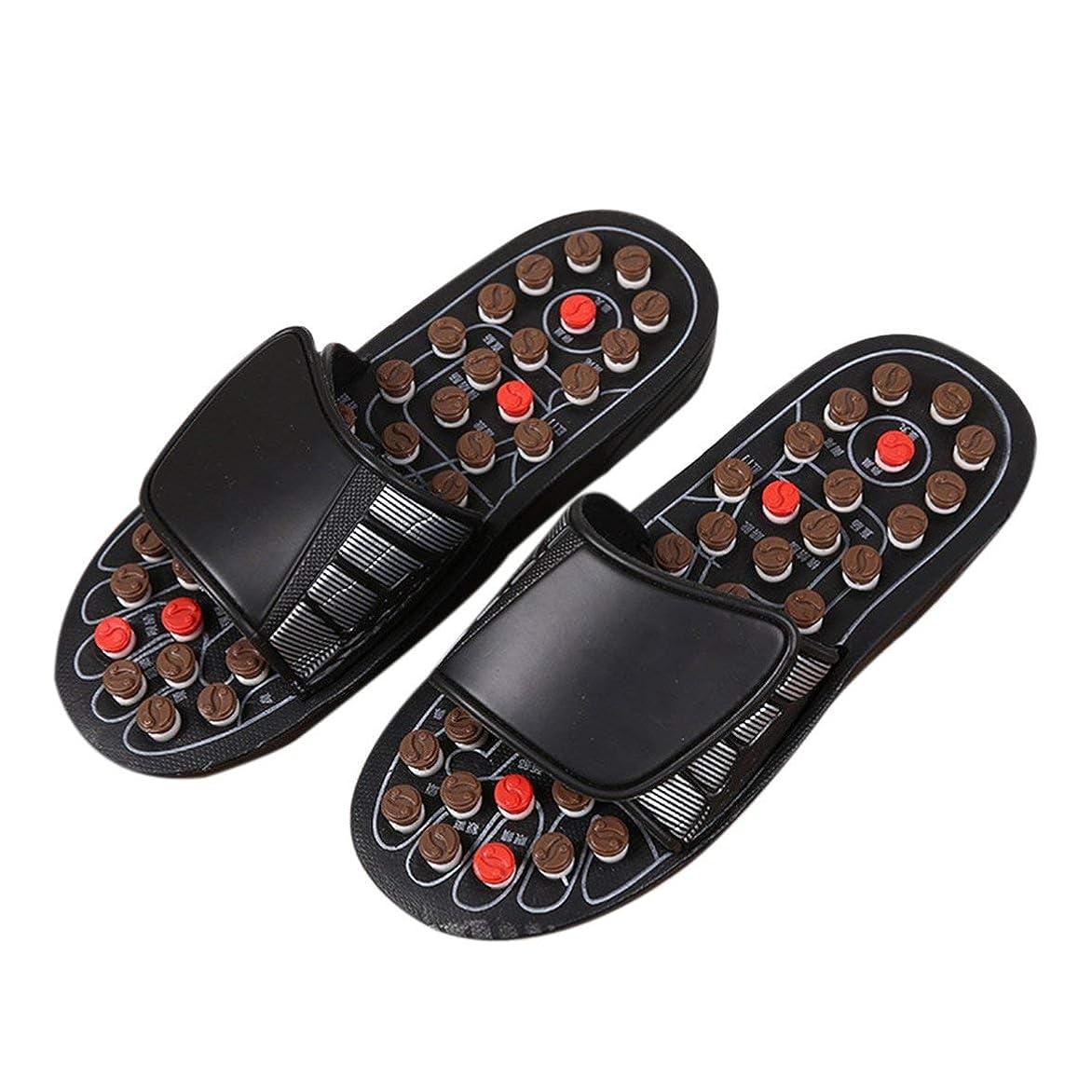 鉛筆さまよう有料1ピースブラックAcu-PointスリッパAccupressure Massage Foot Massager Flip Flop Sandals For Women Men Ka-Best-