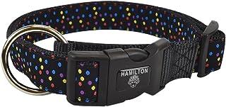 """Hamilton FAL RO P54 Fashion Adjustable Dog Collar, Multi Dots, 1"""" x 18-26"""""""