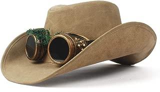 XinLin Du 2018 Cowboy Hat Faux Leather Metal Decoration Wide Brim Western Men Women Headwear Cap