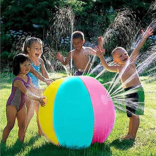 Bola de spray del rinkler inflable para niños, balón inflable de la playa de la playa al aire libre globo de spray para la piscina de la piscina de la fiesta de la natación del verano niños niños 70 c