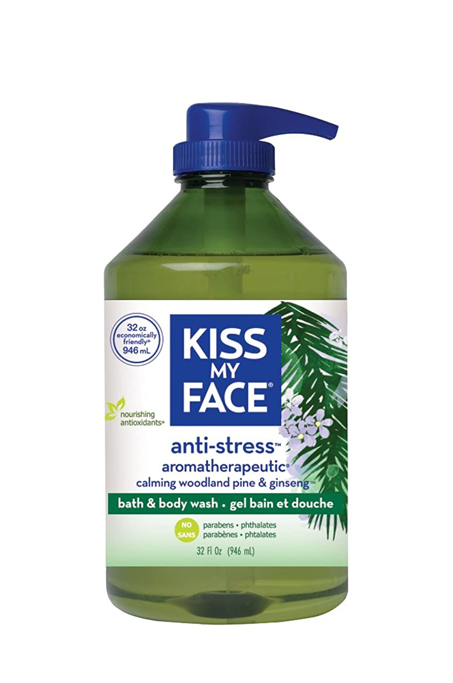 ホームレス貧しいモロニック海外直送品Kiss My Face Anti-Stress Shower Gel, 32 oz