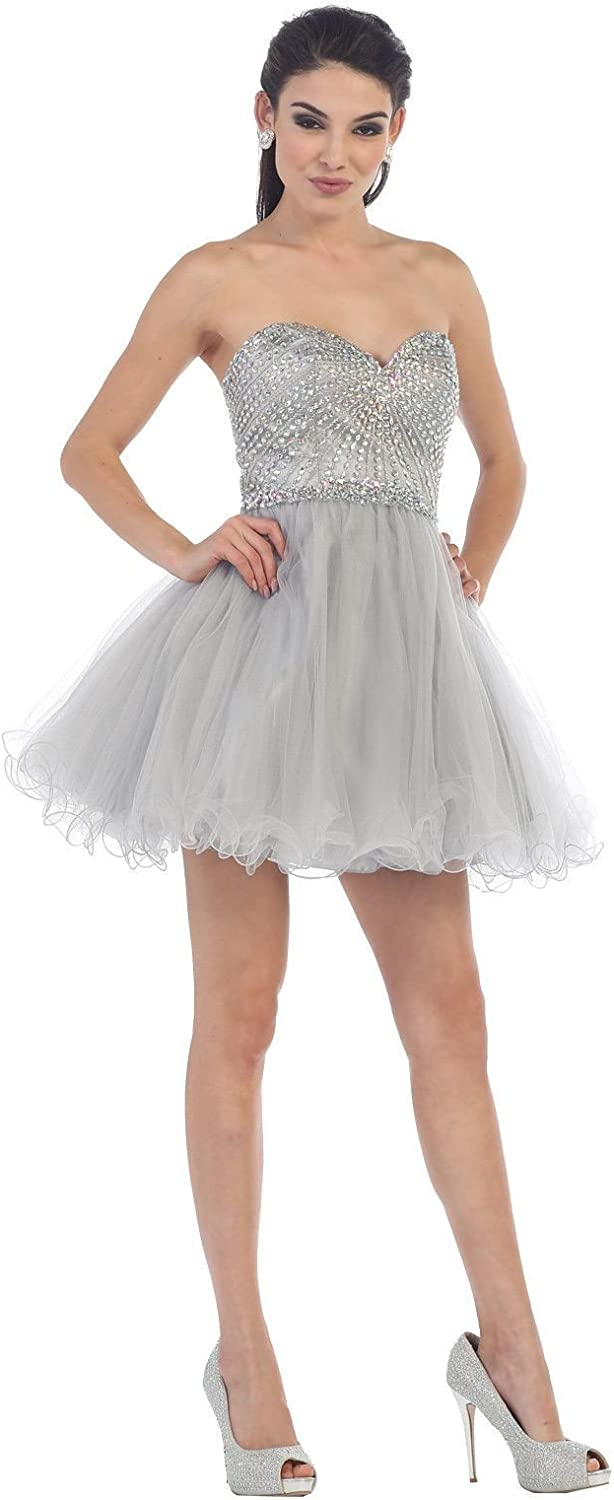 Wishopping Women's Short Sweetheart Neckline Prom Gown Homecoming Dress WH160