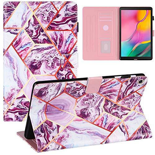ZOOMALL Funda tipo libro para Samsung Galaxy Tab A7 de 10,4' 2020 (SM-T500/T505/T507) Premium de piel vegana con soporte para lápiz y función de encendido automático, color morado