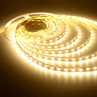 UG LAND INDIA Warm White LED 5 Meter Strip Ceiling Light, Tape Light Waterproof With Adaptor/Driver Free