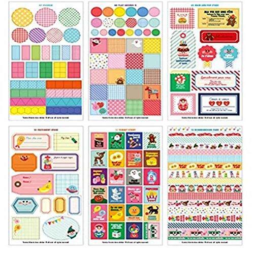 Demarkt Diario Pegatinas Álbum de fotos Pegatinas Cuaderno Pegatinas Regalo DIY Decoración 12 hojas