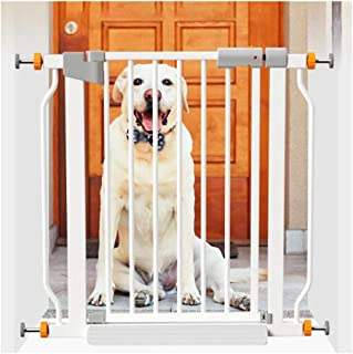 AGLZWY Baby Gate Pet Dog Cat Indoor Safety Fence Room Divider for Stairs Toilet, White (Color : White, Size : 90-97cm)