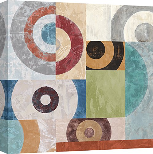 Art Print Cafe – Decoration Murale, Tableau Abstrait de Sandro Nava, Waves I – Impression sur Toile 50x50 cm