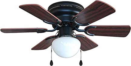 Hardware House 17-4640 Arcadia 30-Inch Oil Rubbed Bronze Flush Mount Hugger Ceiling Fan, Cherry or Walnut Blades