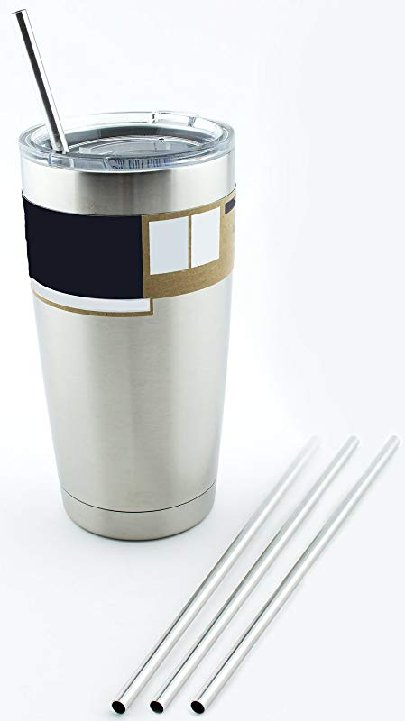 4 Stainless Steel Drinking Straws Fits Yeti Tumbler Rambler Cups CocoStraw Brand For 20 Oz