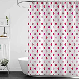 Shower Curtains Under 10 Polka Dots Home Decor Collection,Polka Dots Pattern Consisting of an Array of Filled Circles Pop Art Concept,Pink Red White W60 x L72,Shower Curtain for Bathroom