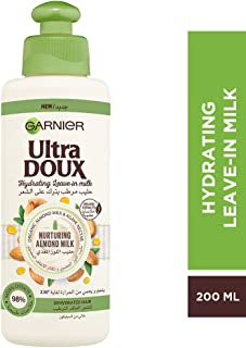 Garnier Ultra Doux Hydrating Leave-In Milk With Almond Milk & Agave Nectar, 200 ml