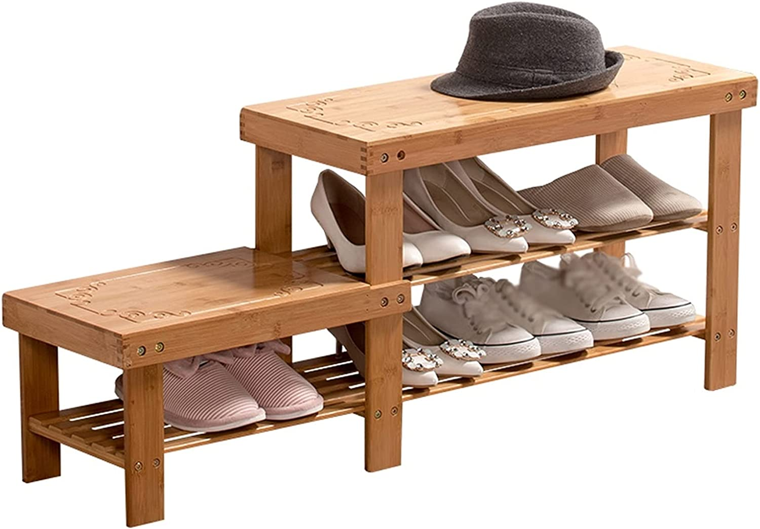 Shoe New arrival Shelves Rack 3-Layer Bedroom Shelf Bamboo SEAL limited product Living