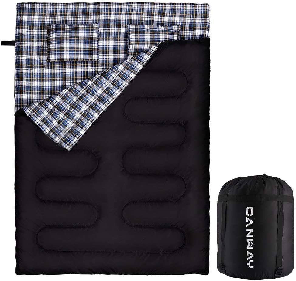 CANWAY Double Elegant Sleeping 5 ☆ popular Bag Flannel Waterproof Per 2 Lightweight