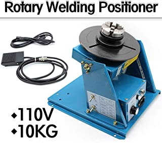 "TFCFL 2.5"" 3 Jaw Rotary Welding Positioner Turntable Table Lathe Chuck 2-18 r/min 110V 370 270 215mm (US Warehouses)"
