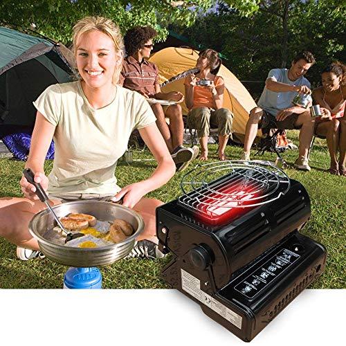 Gasverwarming voor buiten, draagbaar, voor camping/butaangas, compact, draagbaar, camping, gas 1,3 kW, draagbaar, gasfornuis.