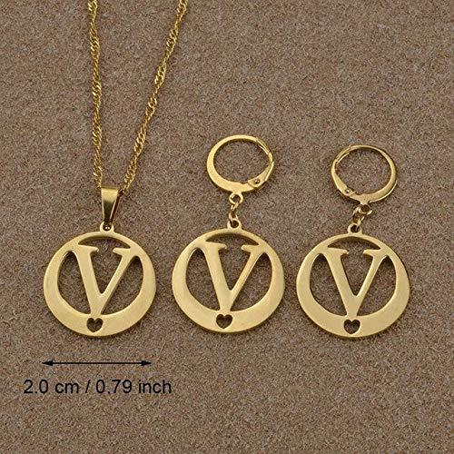 BDVGYXL halsketting Az letters halsketting goud kleur initiaal voor vrouwen meisjes alfabet hanger Engels brief sieraden