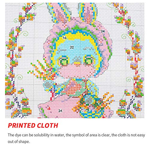 DIY Cross Stitch Counted Kits Stamped Kit Cross-Stitching Pattern for Home Decor, 11CT Pre-Printed Fabric Embroidery Crafts Needlepoint Kit(Magpies)