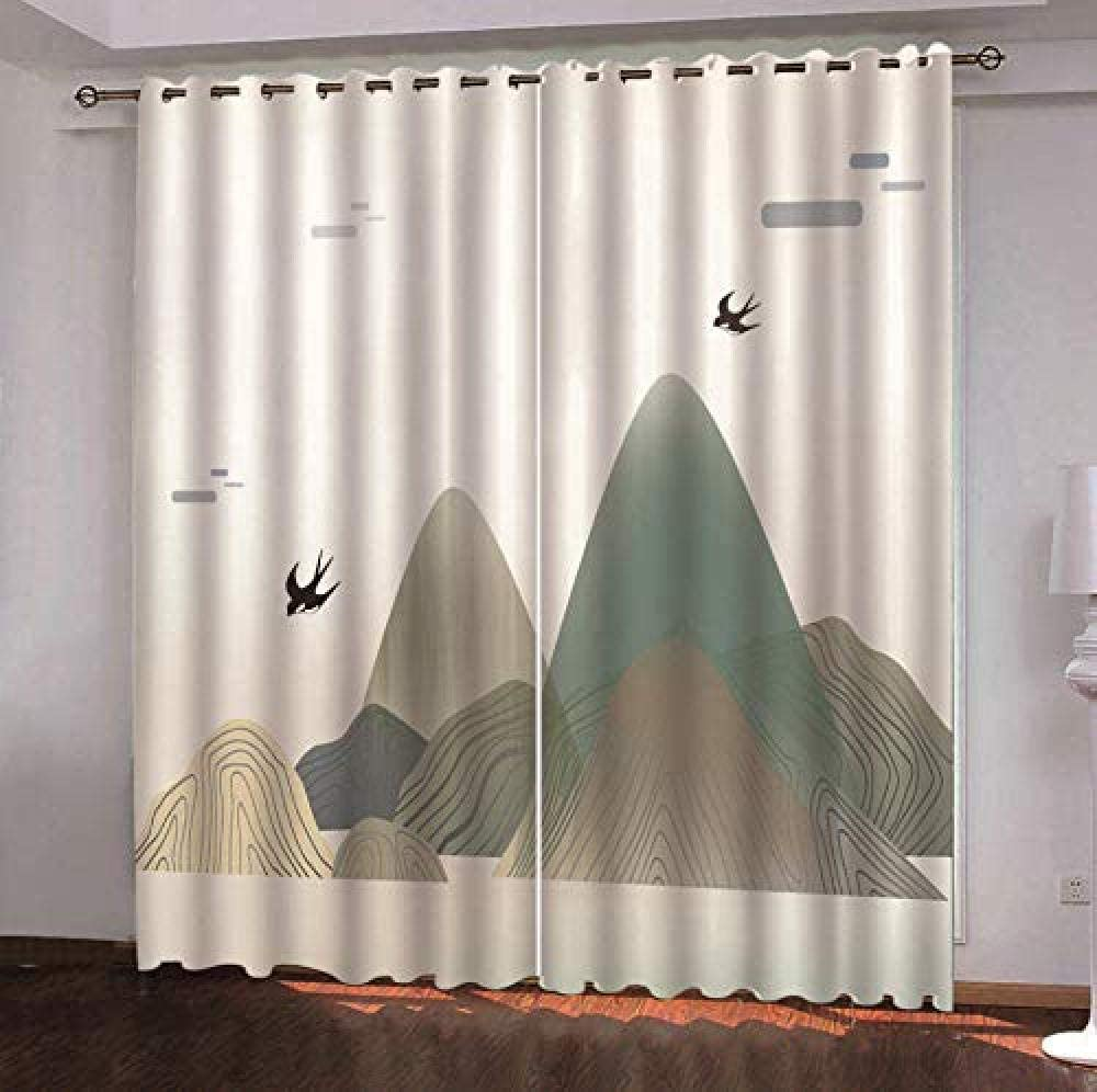 Blackout Curtains for online shopping Bedroom Birds The Mountains Bedroo in Reservation