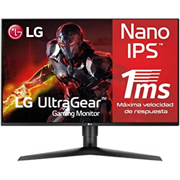 "LG 27GL850-B - Monitor Gaming de 27"" QHD (2560×1440 (3686k), IPS, 16:9, DisplayPort x1, HDMI x1, USB x3, , 114 Hz, 1ms) Negro"