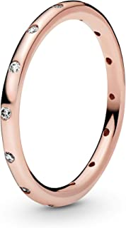 comprar comparacion Pandora - Anillo para mujer con circonita de oro rosa