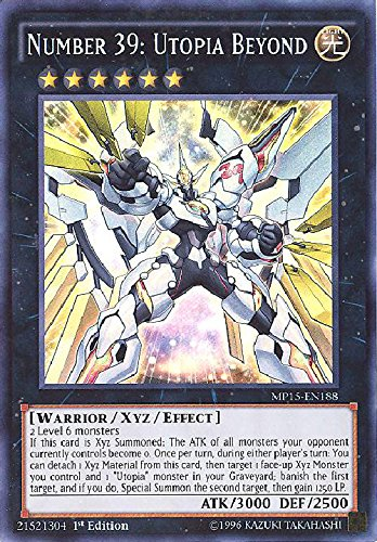 YU-GI-OH! - Number 39: Utopia Beyond (MP15-EN188) - Mega Pack 2015 - 1st Edition - Super Rare