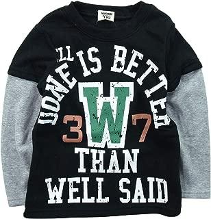 《秋冬对应》SHORH KID'S(展开儿童)T/C内起绒 层叠式运动衫 NO.SD-23884 [対象] 60ヶ月 ~ 黑色 110