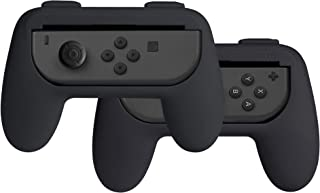 AmazonBasics Grip Kit for Nintendo Switch Joy-Con Controllers - Black