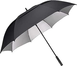 54 62 68 inch Extra Large Windproof Golf Umbrella UV Protection Automatic Open Double Canopy Vented Sun Rain Umbrella Oversize Stick Umbrellas