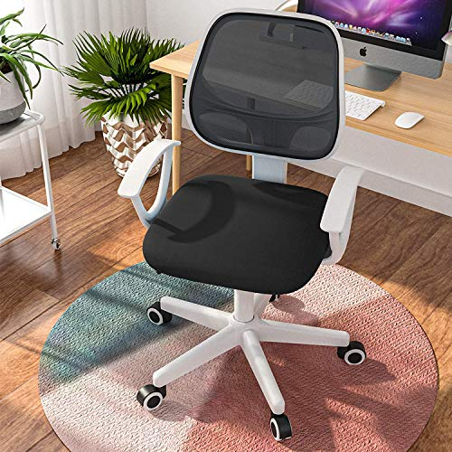 Mecor Small Office Chair Lowback Swivel Ergonomic Mesh Computer Desk Chair (Black/White)