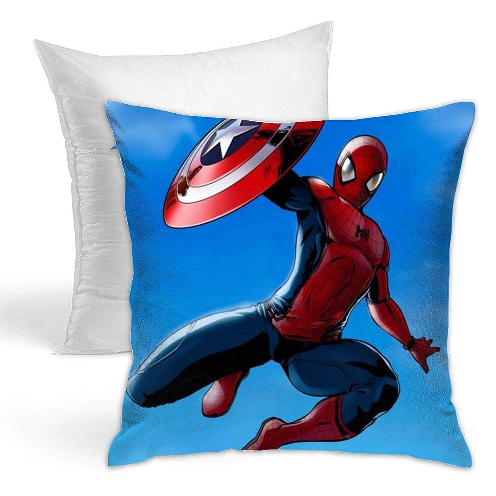 感情ところで滑るアベンジャーズ-スパイダーマン 装飾枕両面タイプ 抱き枕 ソファ 抱き枕 ランバー枕 座布団 スロー枕 柔らか 枕 装飾的な枕 42 X 42cm