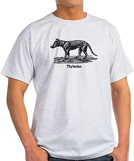 TIANLAGNHB Thylacine T-Shirt 100% Cotton T-Shirt, White