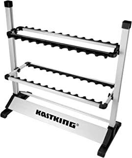 KastKing Fishing Rod Rack - Perfect Fishing Rod Holder - Holds Up to 24 Rods - 24 Rod Rack for All Types of Fishing Rods a...