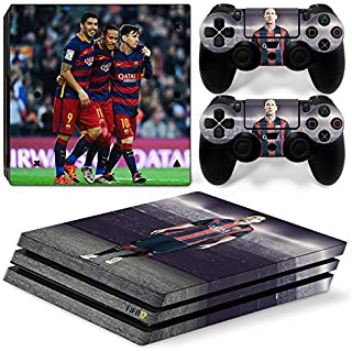 FriendlyTomato PS4 Pro Console and DualShock 4 Controller Skin Set - Soccer Football - PlayStation 4
