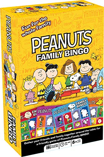Aquarius Peanuts Family Bingo Game, Multicolor