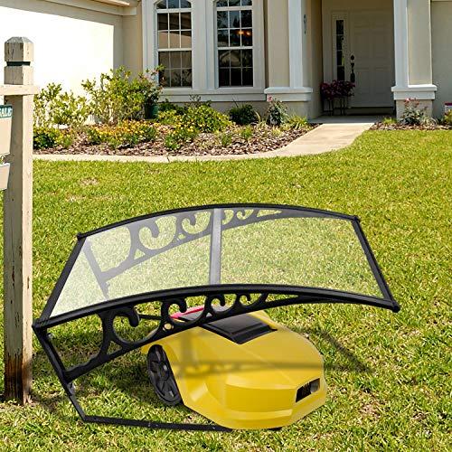VINGO Rasenmäherdach 103 x 51 x 7,5 cm Carportdach Roboter-Rasenmäher Garagendach Carport Geeignet für Roboter-Rasenmäher Automower schützt vor Regen Hagel und UV-Strahlen