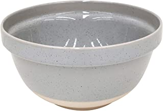 "Casafina Fattoria Collection Stoneware Ceramic Mixing Bowl 9"", Grey"