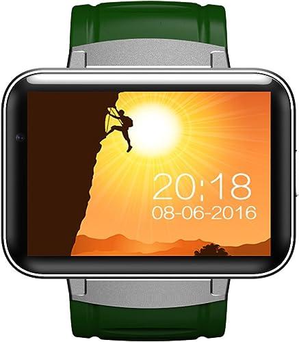 Ho Clock DM98-3G Full Smart Watch Communication Globale bleutooth GPS Positionnement Navigation Bracelet Intelligent Fonction De Remise en Forme WiFi Internet sans Fil Musique Vidéo,vert