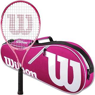 Wilson Burn Pink Junior Tennis Racquet Bundled with a Advantage II Racquet Holder