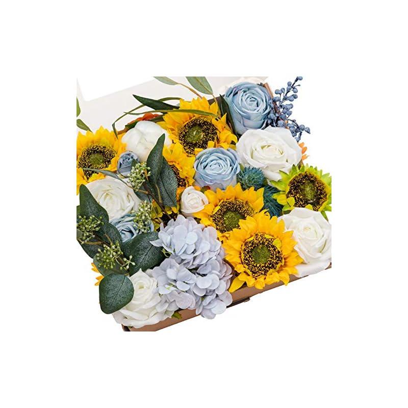 silk flower arrangements ling's moment artificial flowers box set elegant sunflower for diy wedding bouquets centerpieces arrangements party baby shower home decorations